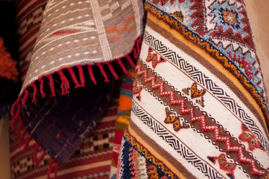 Fès souk tapis berbère