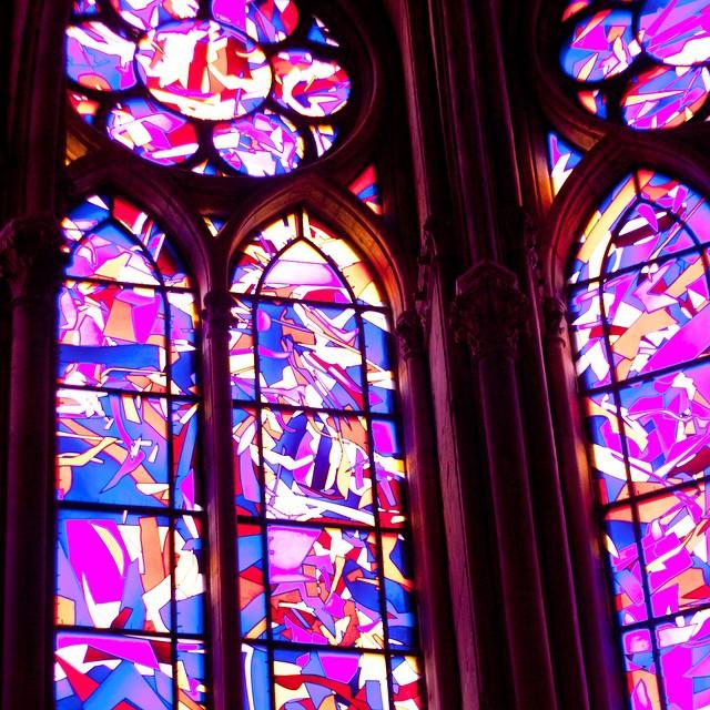 Vitraux dans la cathédrale de Reims #reims #cathedrale