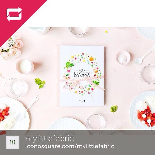 Un joli livret de recettes a gagner sur le blog de @mylittlefabric !
