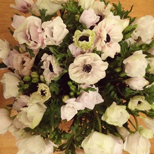 Merci GQ ! #thanks #anemones #pastel #flowers