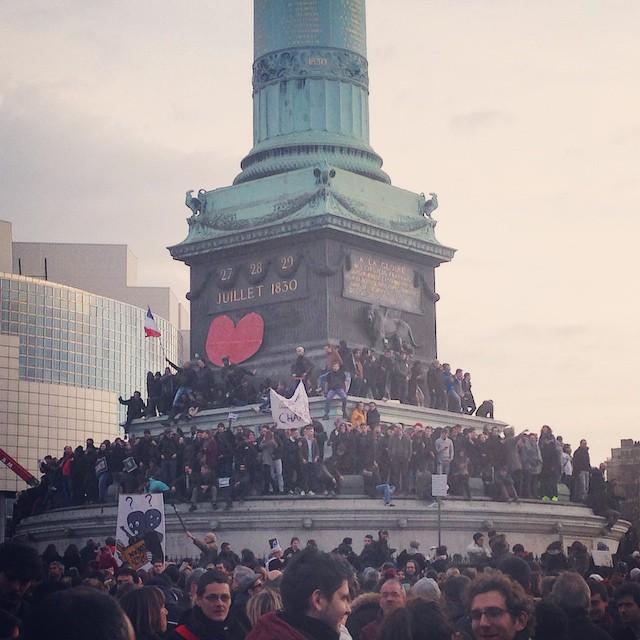 #bastille #marcherepublicaine #noussommescharlie #jesuischarlie